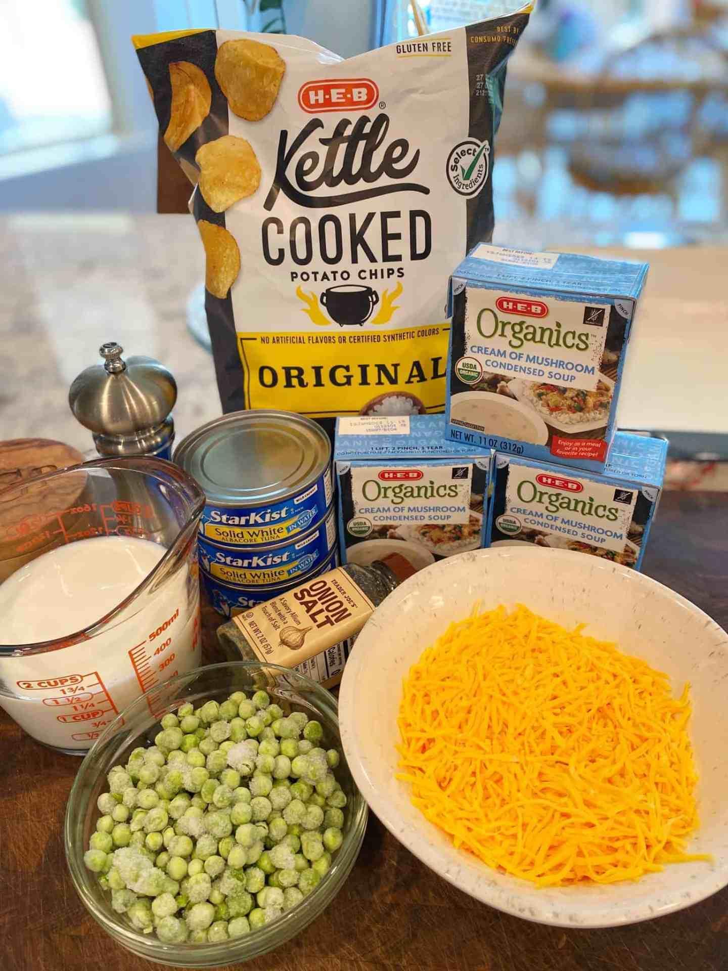 cheesy tuna noodle casserole ingredients