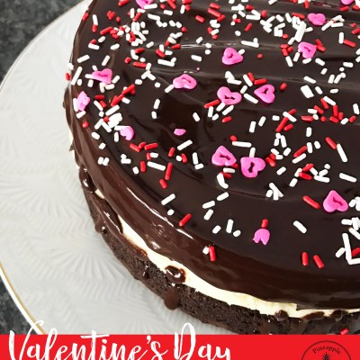 {Valentine's Day} Chocolate Raspberry Brownie Cake Recipe