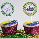 Mardi Gras Printable Cupcake Toppers