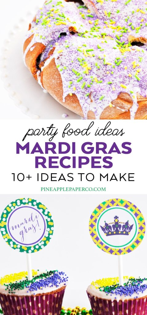 Mardi Gras Recipe Ideas curated by Pineapple Paper Co.