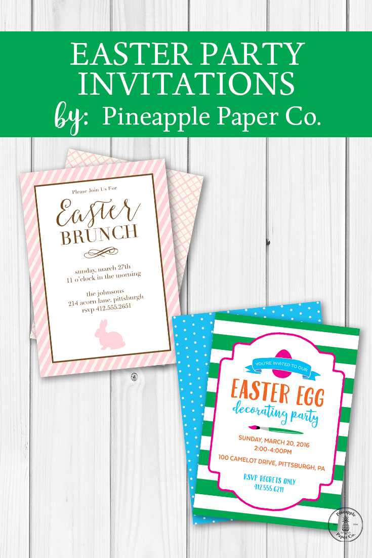{Easter} New Invitations for your Easter Parties
