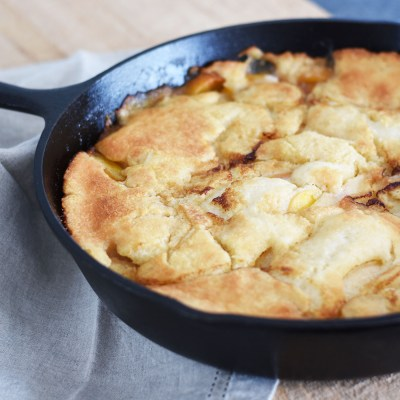Quick and Easy Peach Cobbler Recipe with Bourbon by Pineapple Paper Co.