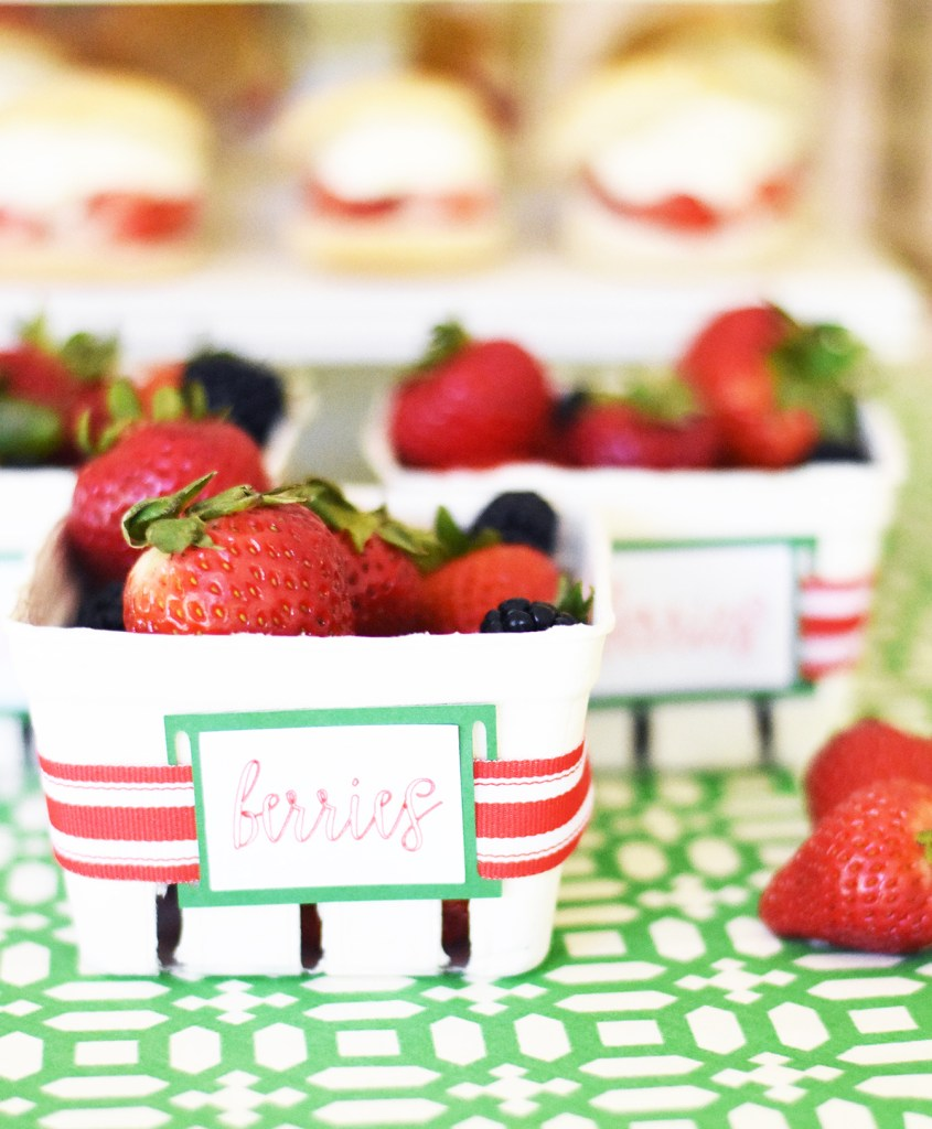 Strawberry Themed Party Ideas with DIY Cricut Party Decor by Pineapple Paper Co.