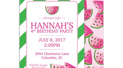 Watermelon Birthday Invitation by Pineapple Paper Co.