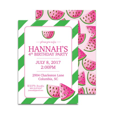 Summer Birthday Party Invitations by Pineapple Paper Co.