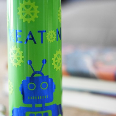 DIY Robot Water Bottle using a Cricut Machine