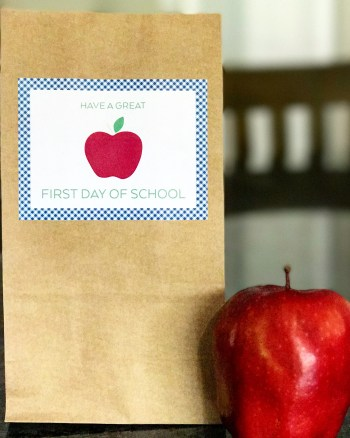 Back to School Lunch Bag Stickers
