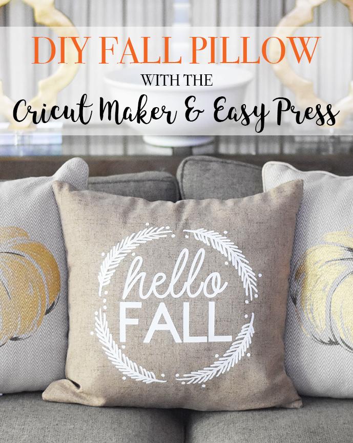 DIY Fall Pillow with Cricut