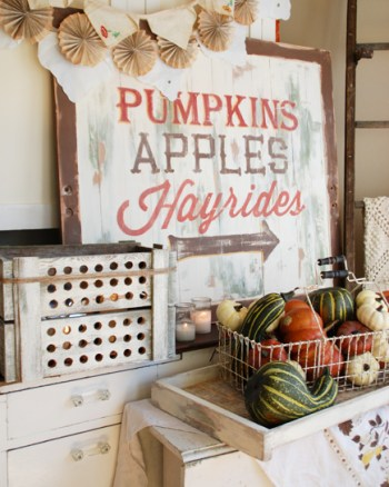 Pumpkins Wooden Sign