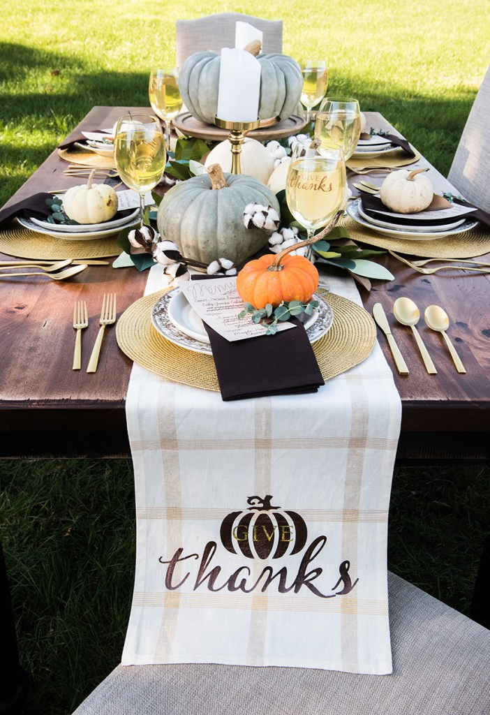 Thanksgiving Dinner Table Decorations for Rue Magazine and Cricut by Pineapple Paper Co.
