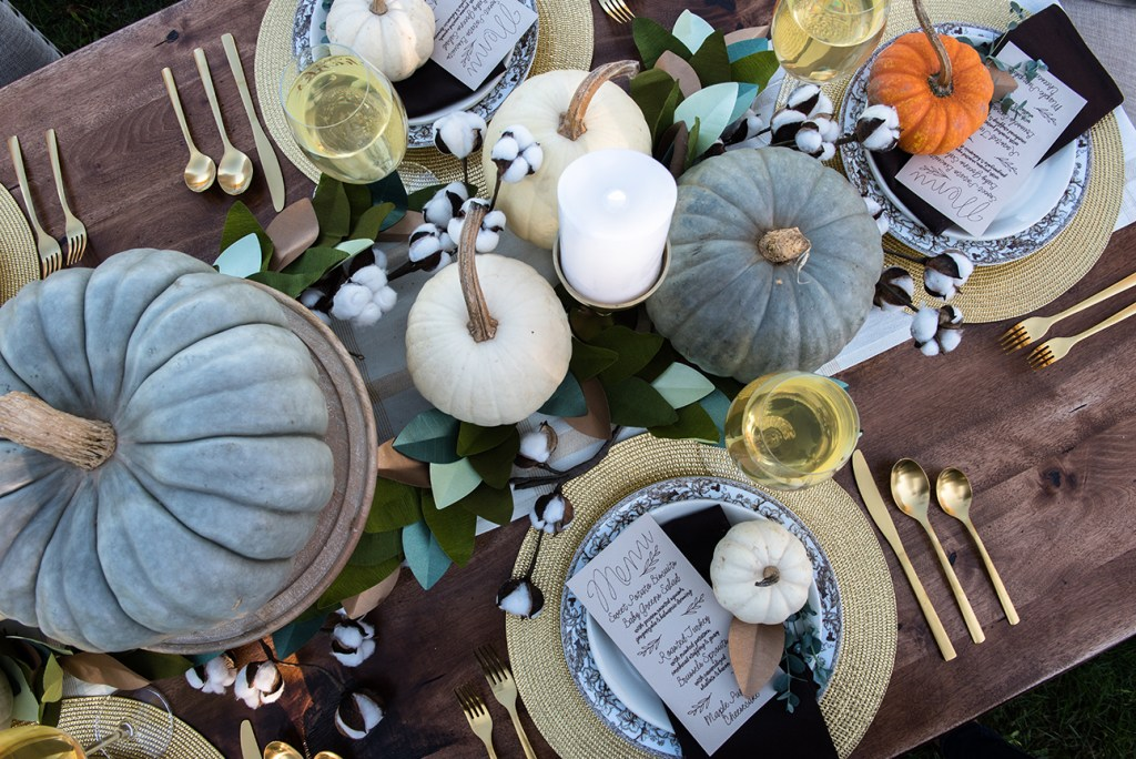 Thanksgiving Table Decorations by Pineapple Paper Co. for Rue Magazine and Cricut