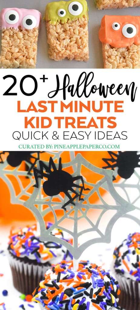 Easy Last Minute Halloween Treats for Kids