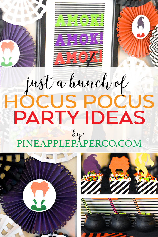 Hocus Pocus Party Ideas by Pineapple Paper Co.