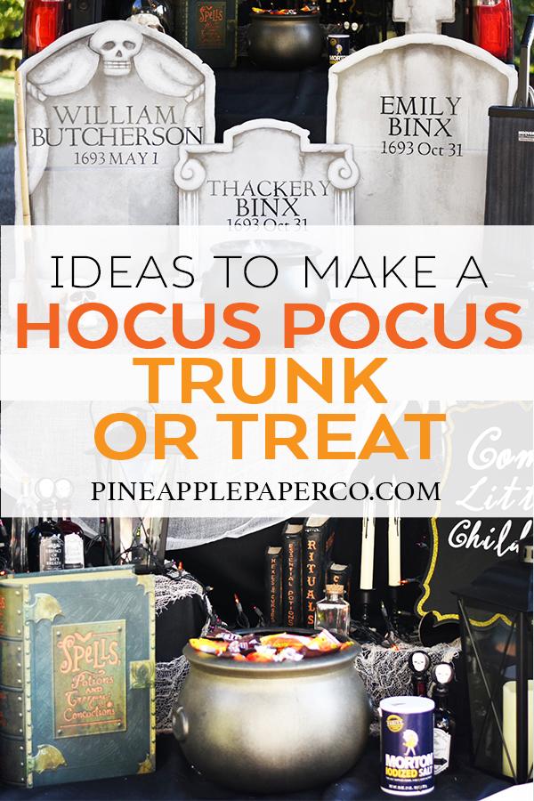Ideas to Make a Hocus Pocus Trunk or Treat