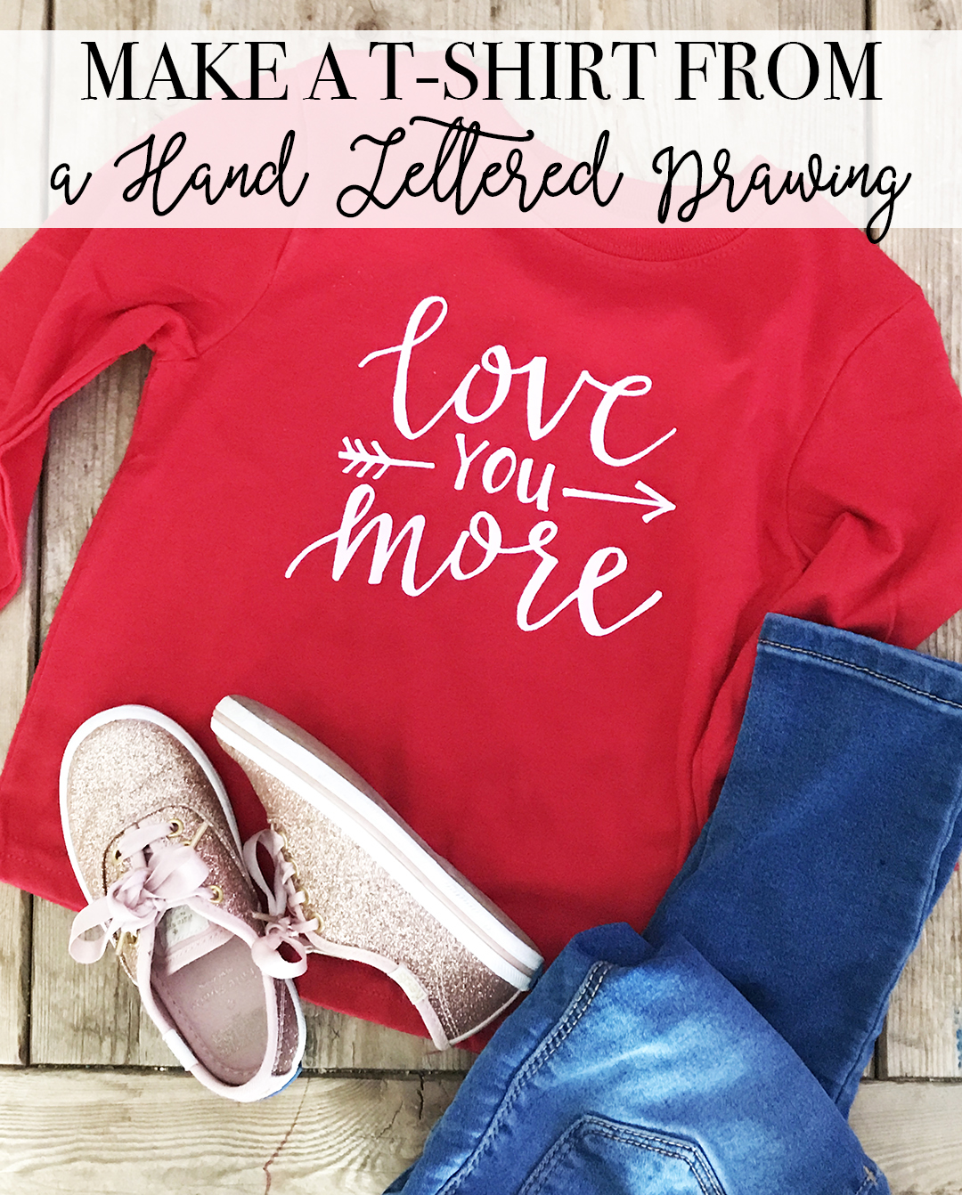 How to Make a T-shirt from a Hand Lettered Design