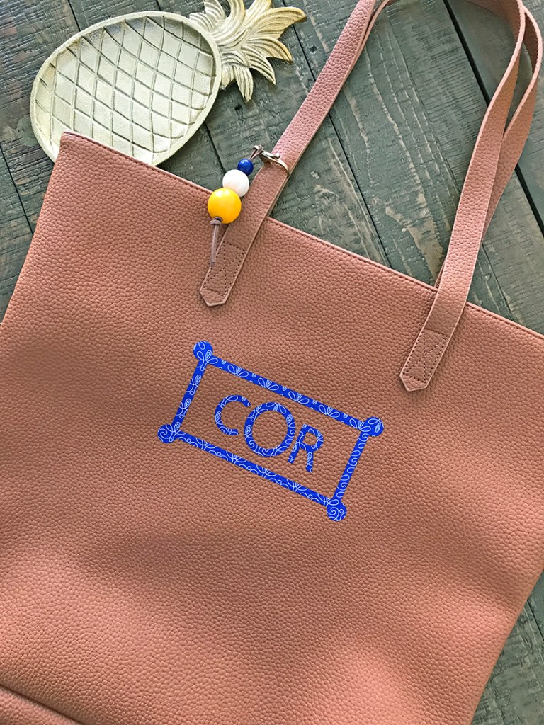 DIY Monogrammed Leather Tote Bag