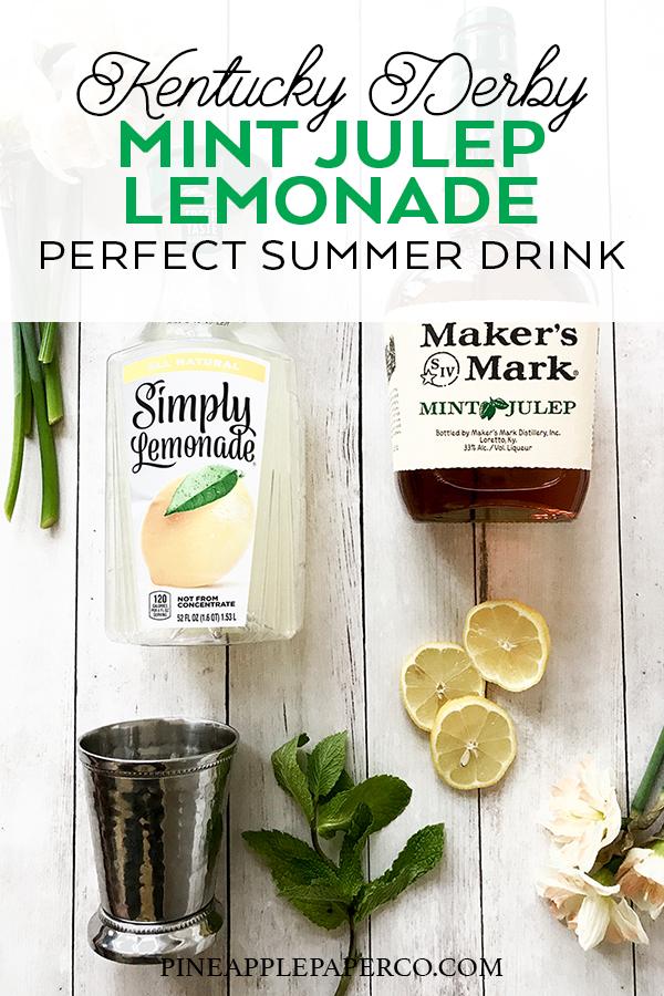 Mint Julep Lemonade Recipe by Pineapple Paper Co.