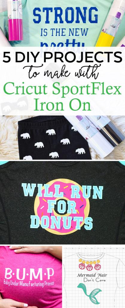DIY Workout Shirt and Iron On Shirts to Make with Cricut SportFlex