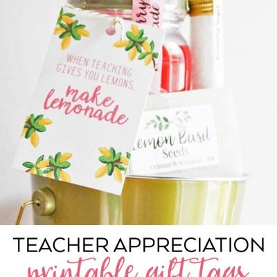 Teacher Appreciation Printable Tags
