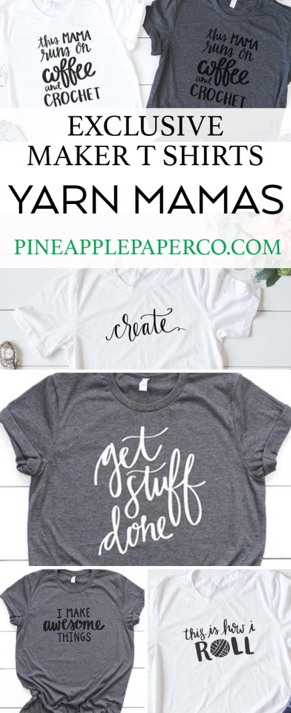 New Craft Shirt Designs by Pineapple Paper Co. for Yarn Mamas