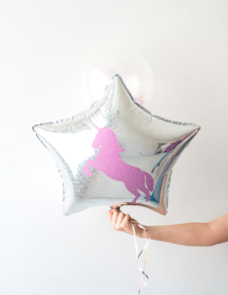 DIY Unicorn Balloon with your Cricut machine by Pineapple Paper Co.