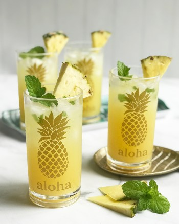 Pineapple Cocktail Glasses - Make Cricut Vinyl Projects with your Cricut by Pineapple Paper Co.
