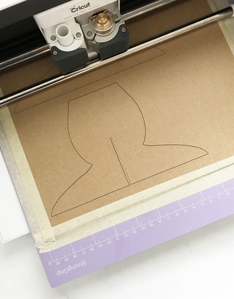 Cricut Maker cutting DIY Cake Stand with Cricut Knife Blade