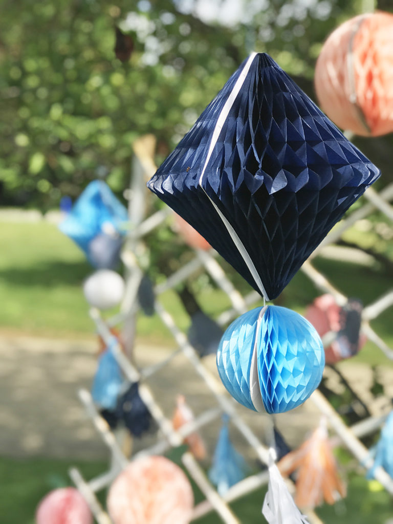 Indigo Martha Stewart Honeycomb Decoration from Michaels