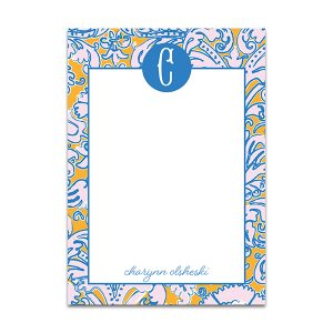 Colorful Resort Monogrammed Notepad by Pineapple Paper Co.