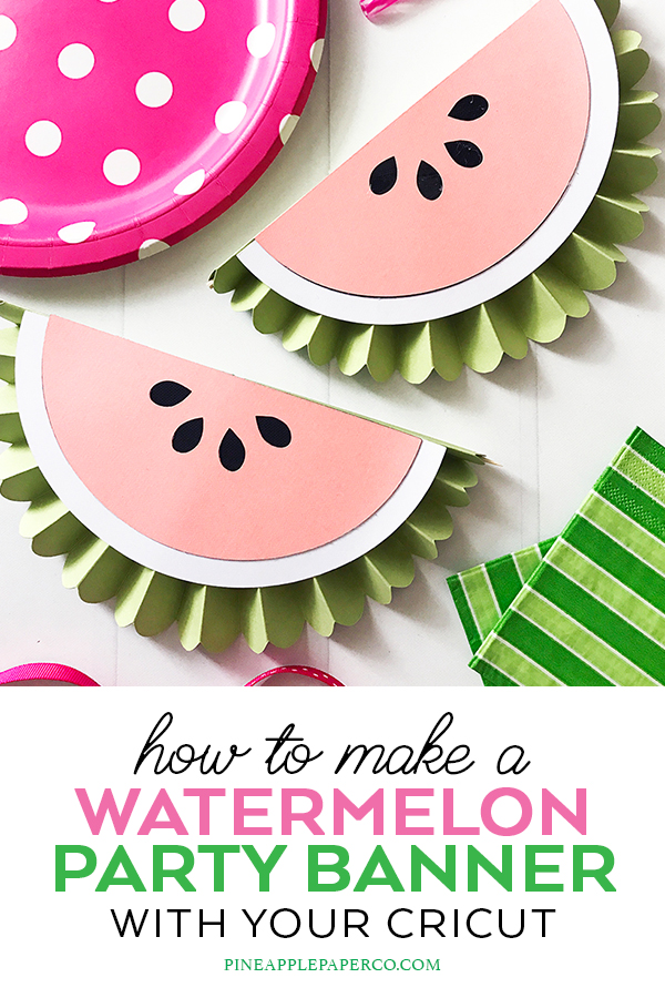 Paper Rosette Watermelon Birthday Decorations by Pineapple Paper Co.