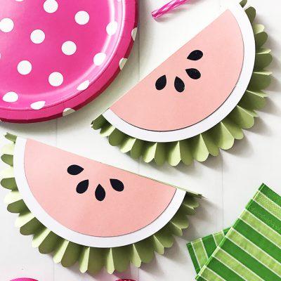Paper Rosette DIY Watermelon Banner with Cricut