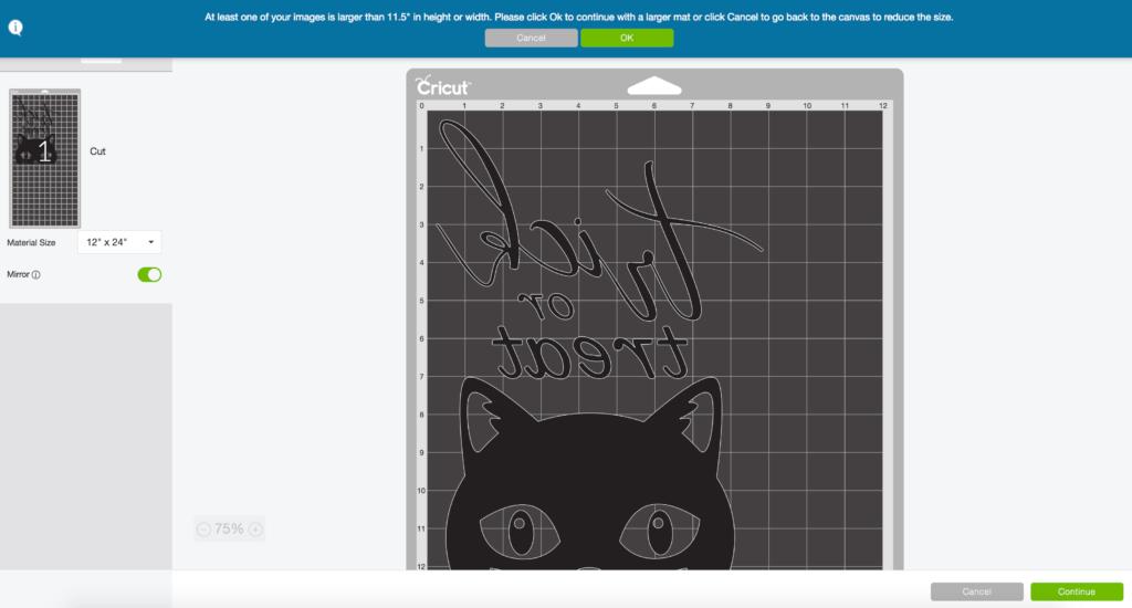Cricut Design Space Trick or Treat Halloween Reverse Canvas Screen