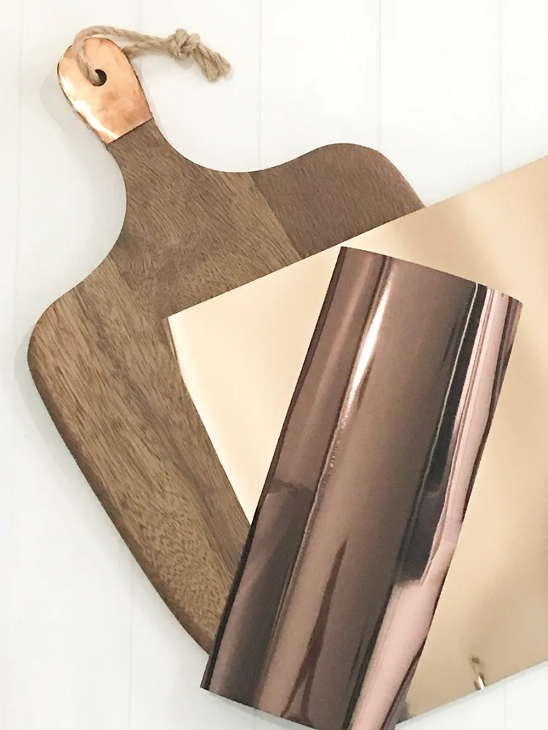 Wood Tray with Handle and Cricut Foil Iron On