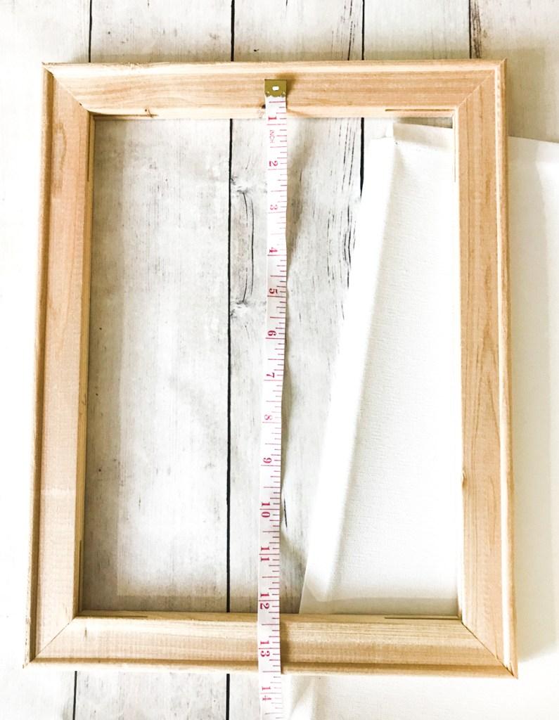 Measuring Canvas Size for Reverse Canvas Cricut Project