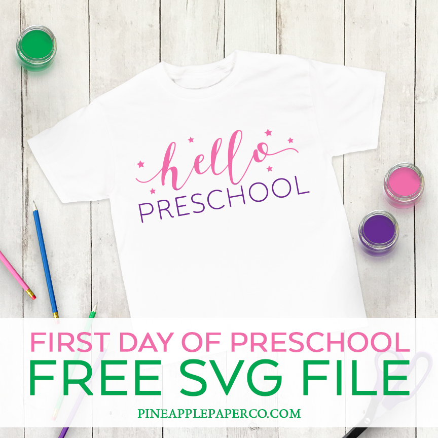 Hello Preschool Shirt made by Pineapple Paper Co.