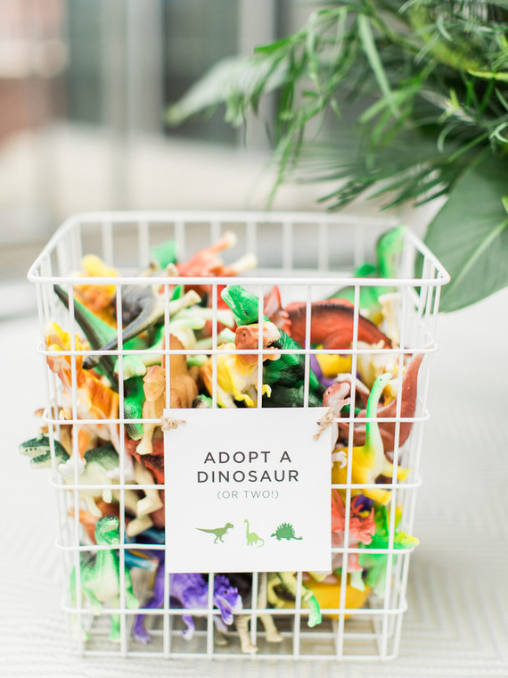 Adopt a Dinosaur Basket Party Favors by Pineapple Paper Co.