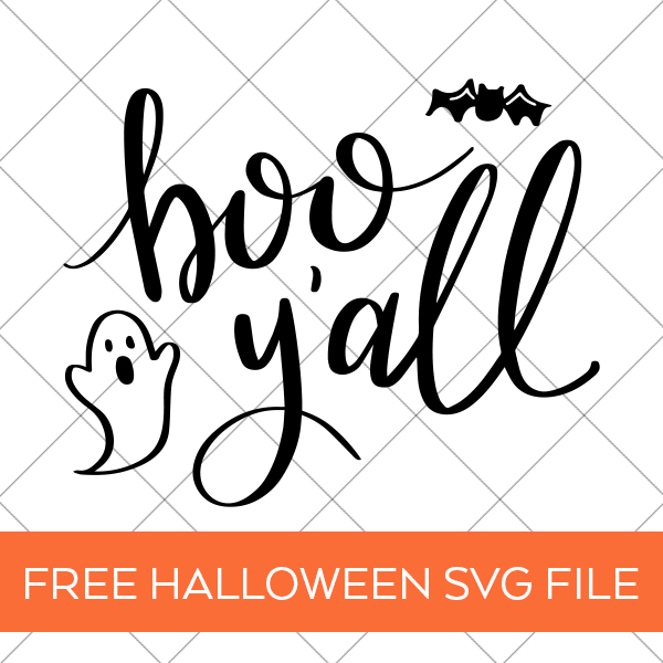 Free Halloween SVG - DIY Boo Y'all Shirt by Pineapple Paper Co.