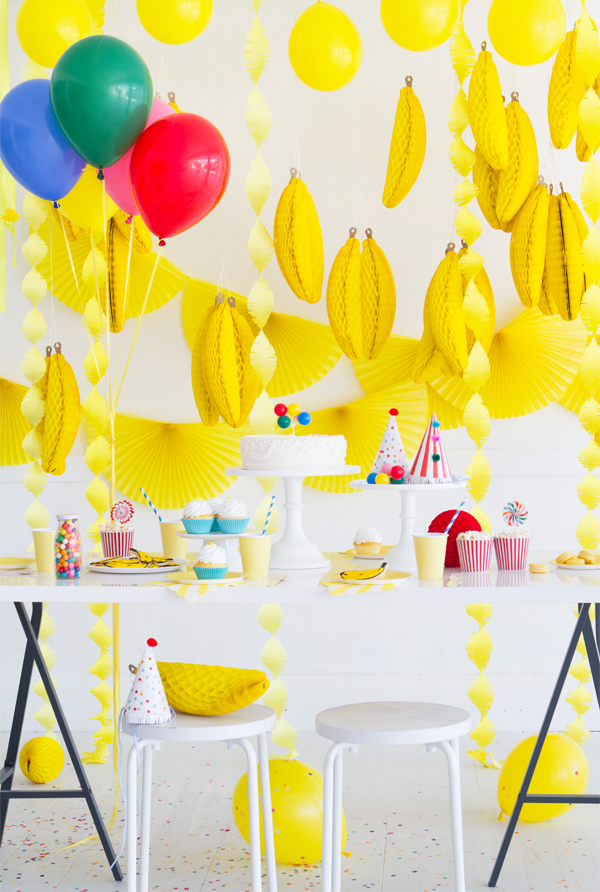 Curious George Birthday Party Ideas and other Fall Birthday Party Ideas curated by Pineapple Paper Co.
