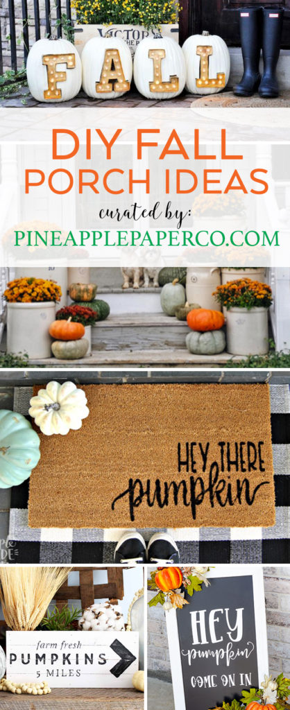 DIY Fall Porch Ideas by Pineapple Paper Co.