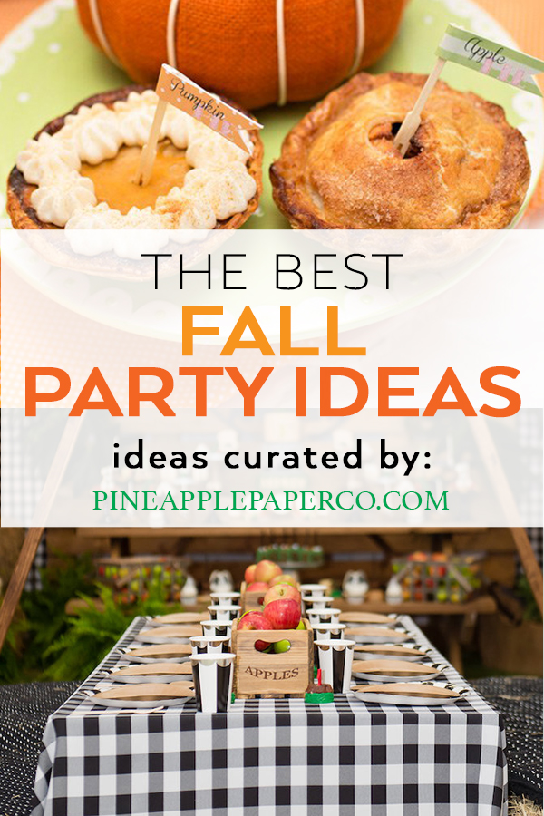 Fall Birthday Party Ideas curated by Pineapple Paper Co.