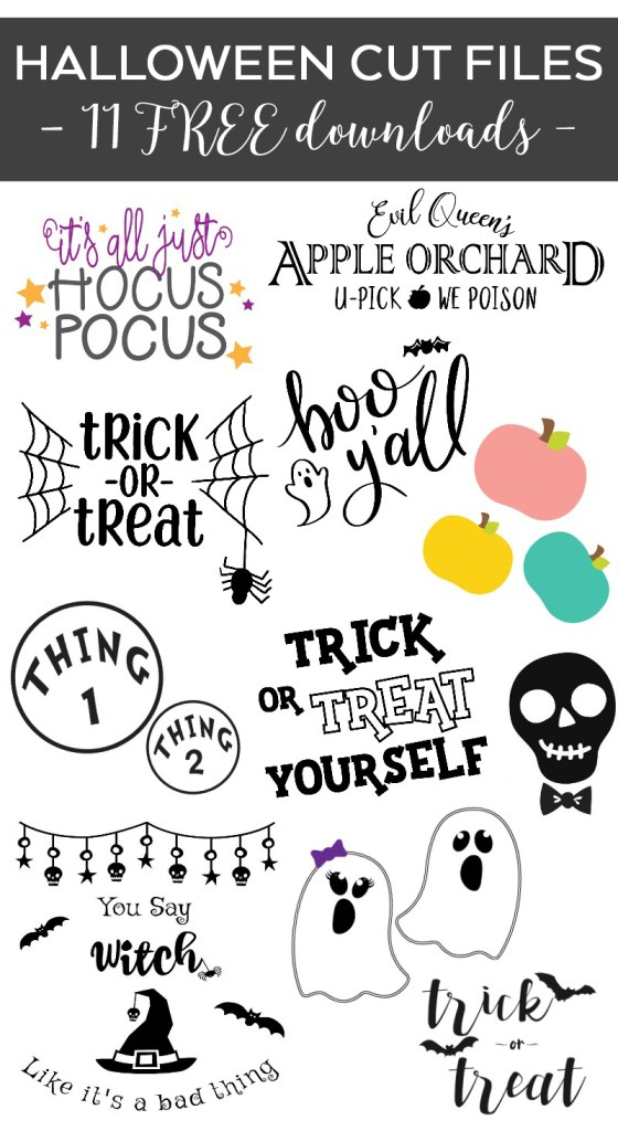Free Halloween SVG Files Collage - Free Halloween SVG - DIY Boo Y'all Shirt by Pineapple Paper Co.