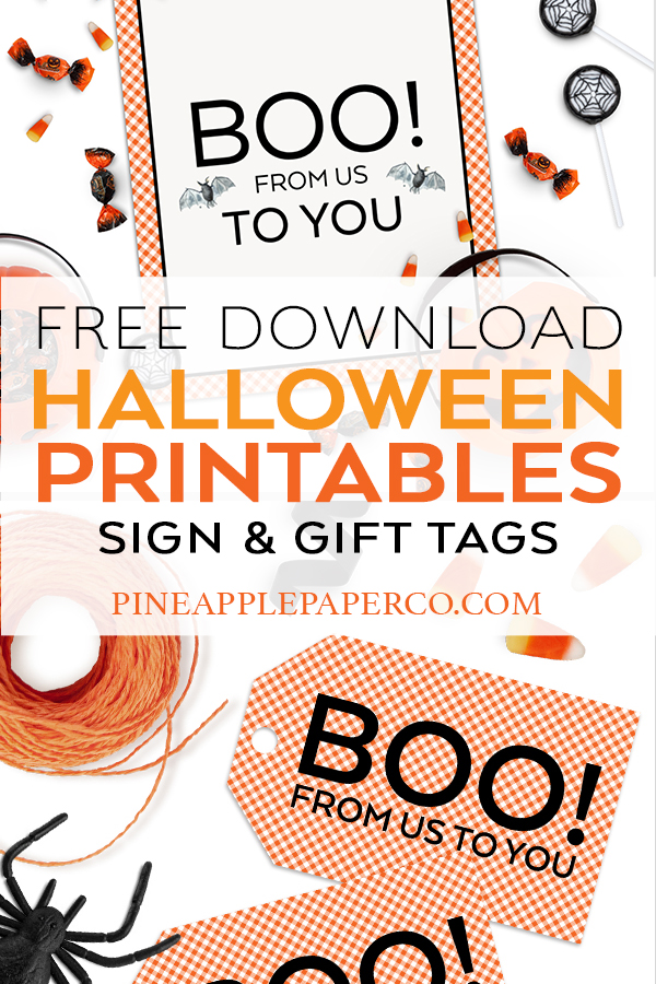 Free Halloween Printables You Ve Been Booed Pineapple Paper Co