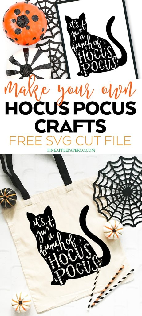 Free Hocus Pocus Cat SVG by Pineapple Paper Co.