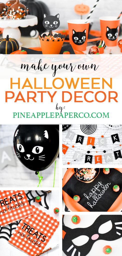 Make your Own Halloween Party Decor with Cricut crafts and tutorials by Pineapple Paper Co.