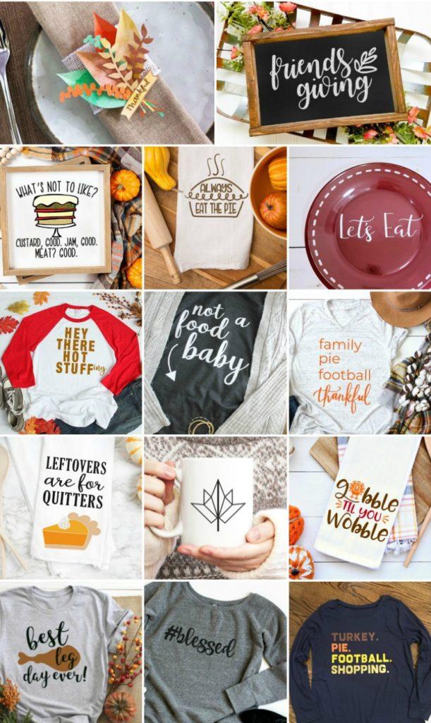 FREE Thanksgiving SVG Blog Hop Collage