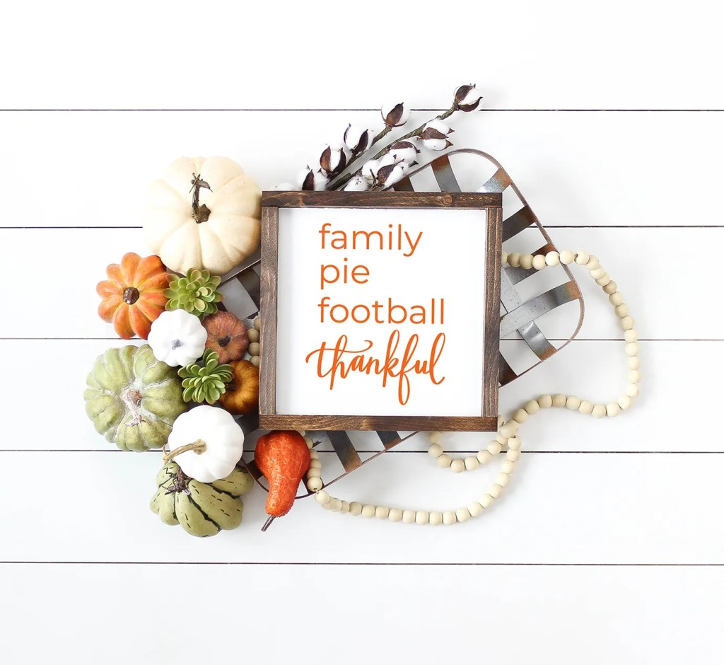 Thanksgiving Decor Sign - FREE SVG File by Pineapple Paper Co.