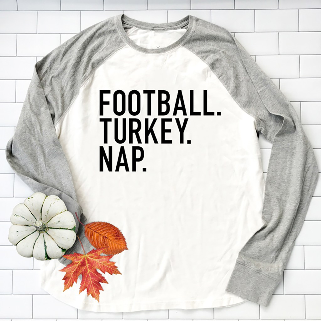 Make DIY Cricut Thanksgiving Shirts with New Thanksgiving Designs in Cricut Design Space by Pineapple Paper Co.