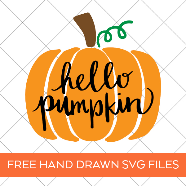 Hello Pumpkin SVG Files by Pineapple Paper Co.