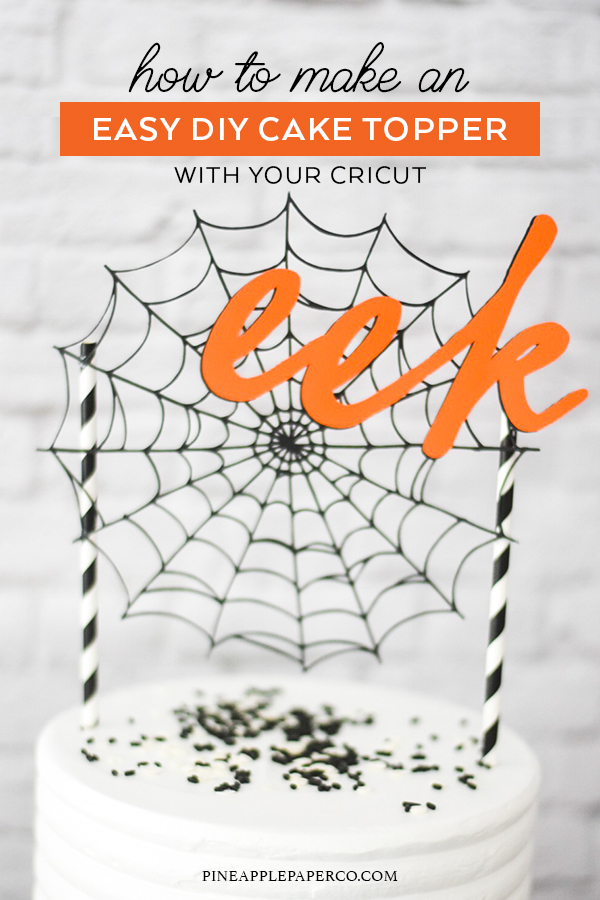 Make Your Own DIY Halloween Cake Topper with Martha Stewart, Cricut, and Michaels by Pineapple Paper Co.