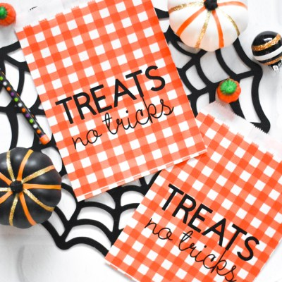 Make your Own Halloween Treat Bags with Iron-On Vinyl – Treats No Tricks